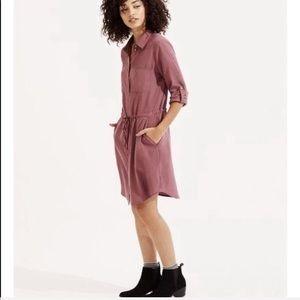LOU & GREY silkwash shirt dress